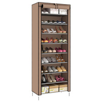 Dustproof 10 Layer 27 Pair Shoes Cabinet Storage Organizer Shoe Rack Stand