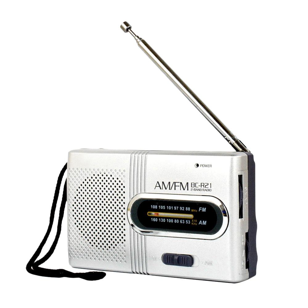 Bc-r21 Am/fm Dual Band Radio Mini Tragbare Audio Empfänger Outdoor Tasche Radio Mit Teleskop Antenne Lanyard 3,5mm Jack Port Dinge Bequem Machen FüR Kunden Unterhaltungselektronik