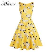 96707759c10 MISSJOY robes de fiesta noël sans manches imprimé papillon a-ligne fête  Vintage robe pour