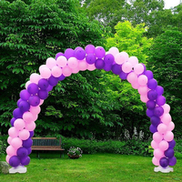 1 Set Balloon Clips Holder Tubes Balloon Column Arch Base Upright Pole Display Stand Wedding Party Decor
