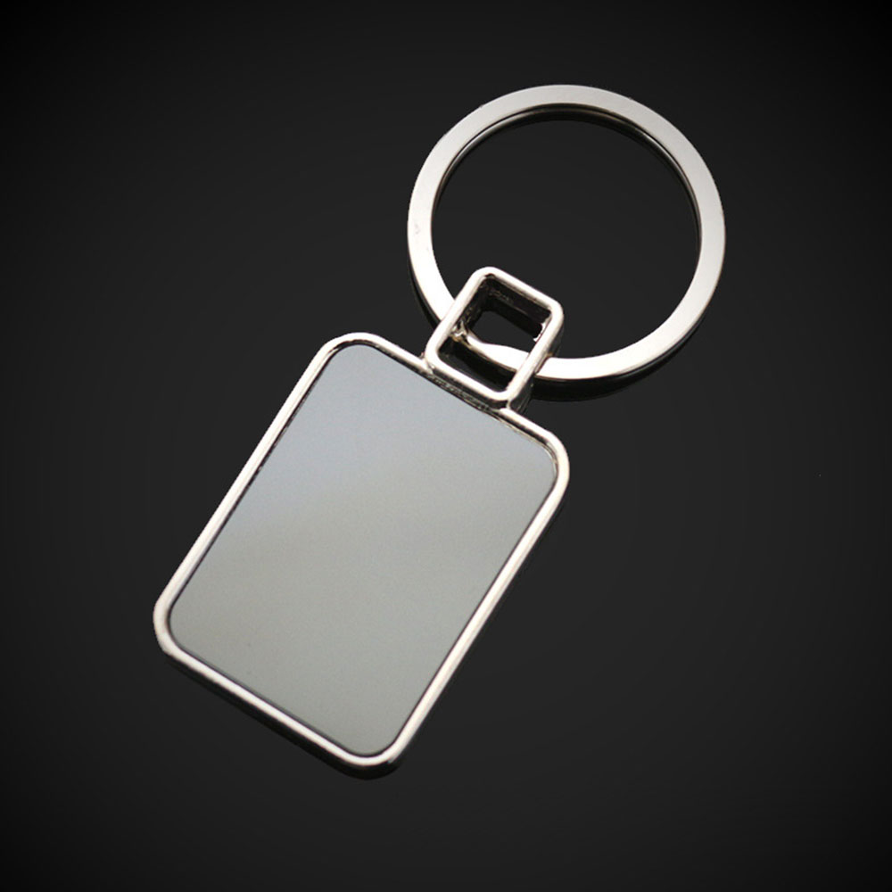 200 pcslot Blank Rectangle Metal Key Chain DIY Promotion Customized Key Tags Promotional Gifts