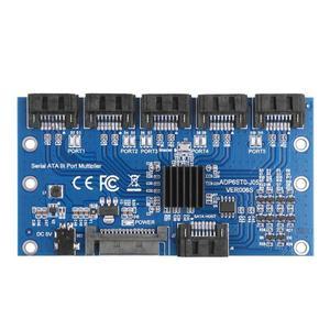 Image 1 - HOT การ์ดเมนบอร์ด SATA Expansion Card 1 ถึง 5 พอร์ต Sata3.0 6Gbps ตัวคูณพอร์ต SATA Riser CARD อะแดปเตอร์สำหรับ Comp
