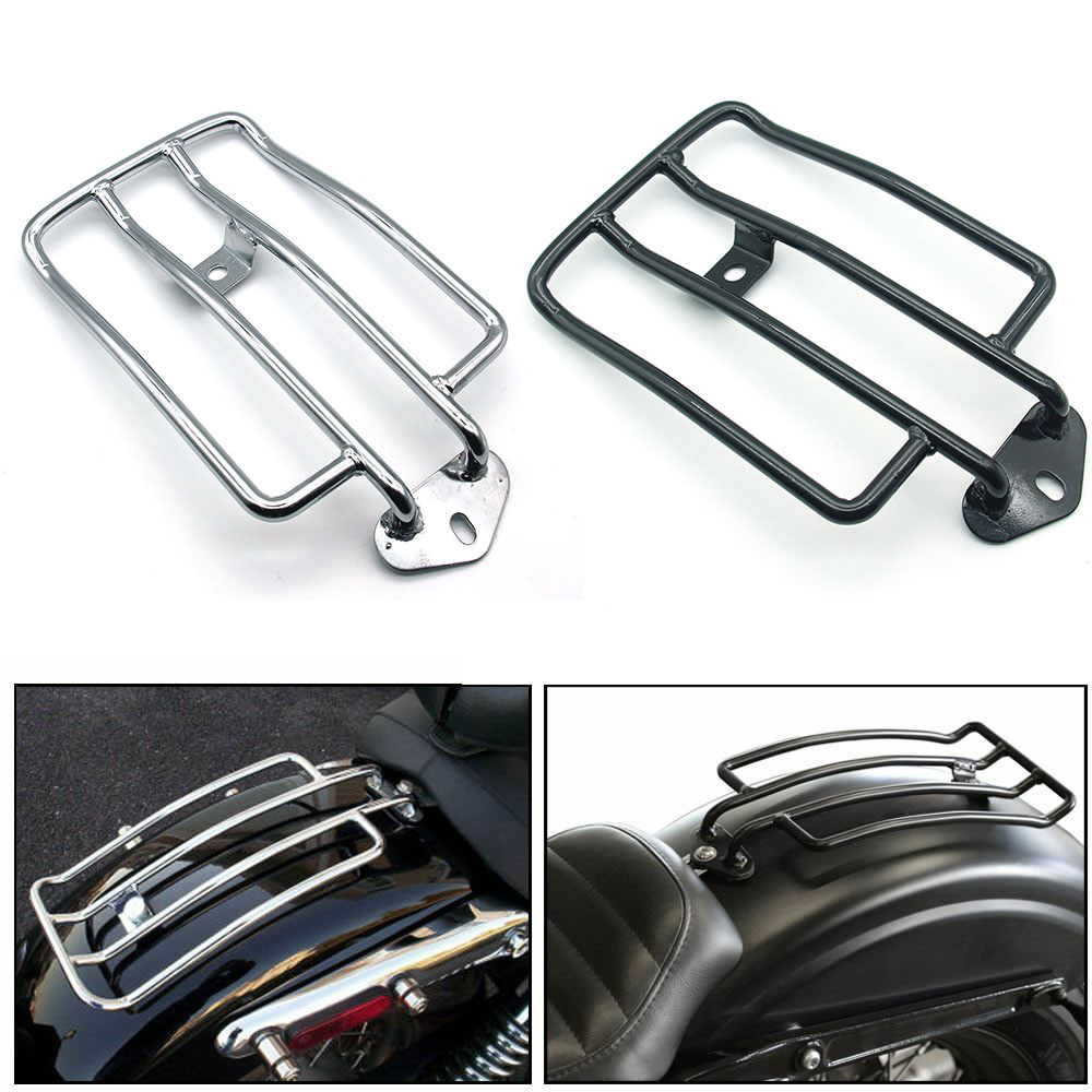 Motorcycle Rear Solo Seat Fits Luggage Rack Support Shelf For <font><b>Harley</b></font> XL Sportsters <font><b>Iron</b></font> 48 <font><b>883</b></font> XL1200 2004-2018 2015 2016 2017 image