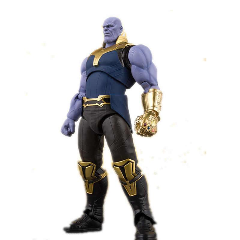 Мстители из комиксов Marvel Infinity War фигурка танос ПВХ Мстители Marvel Экшн фигурки танос игрушки освещение Коллекционная модель игрушки