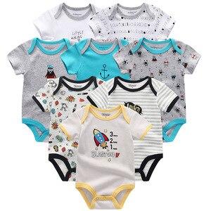Image 3 - Одежда для маленьких мальчиков, 8 шт./компл., унисекс, комбинезоны для новорожденных девочек, roupas de bebe, хлопковые детские комбинезоны с короткими рукавами, одежда для малышей