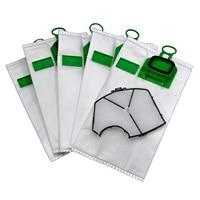 10 Microfiber Bags Adaptable To For Vacuum Cleaner Vorwerk Vk140 + 1 Filter Motor Protection