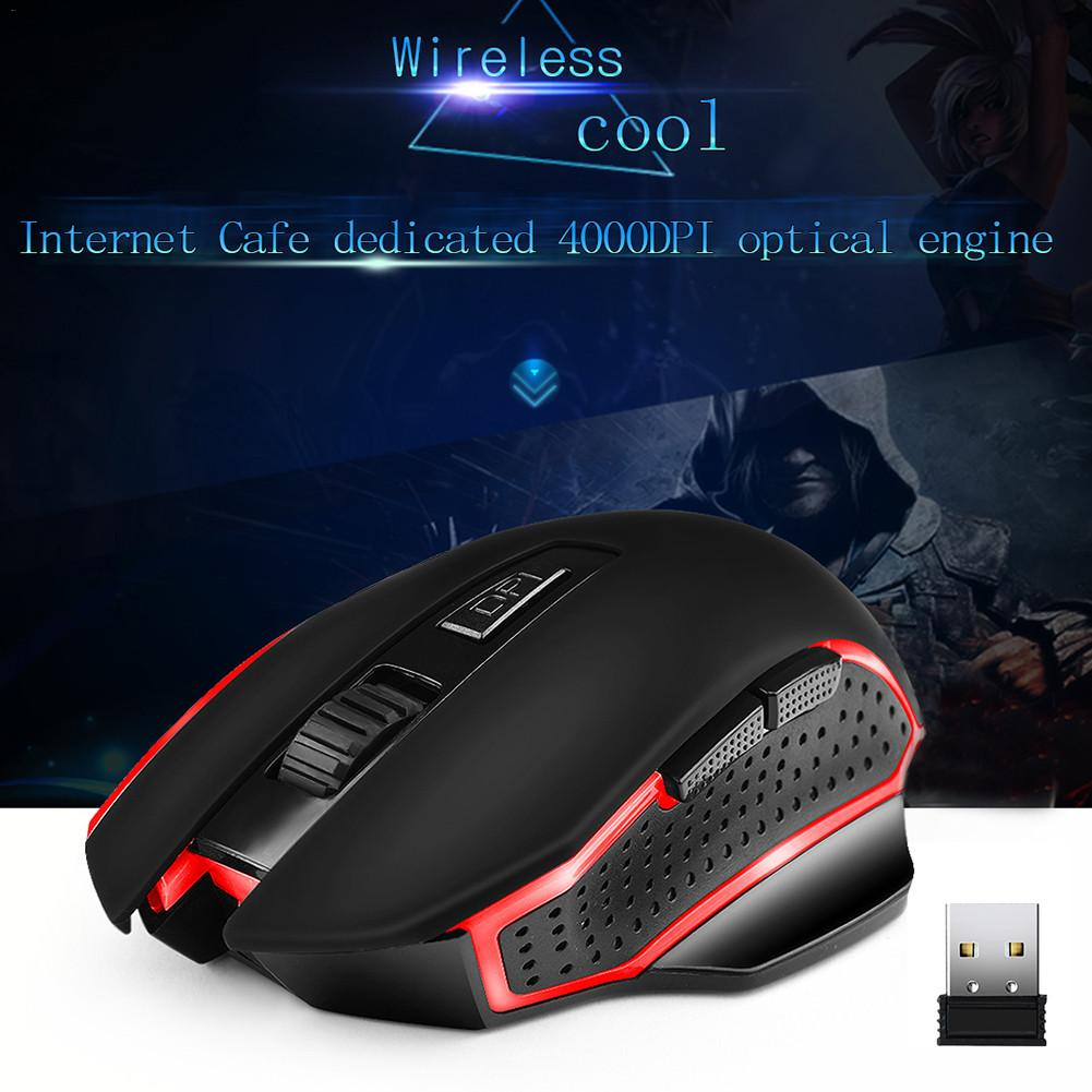 YWYT G821 Wireless Gaming Mouse 2.4G Charging Ergonomic Wear Resistant 6 Key High Performance Rechargeable