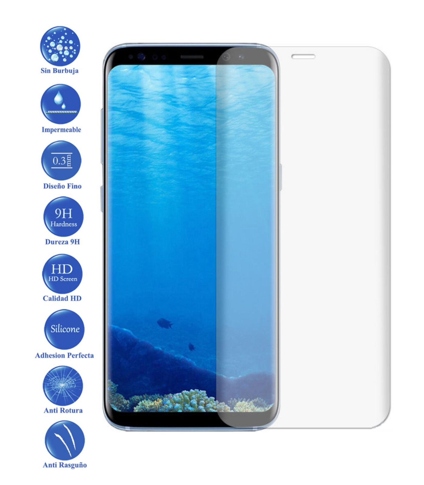 LCD Cover Screen Protector Tempered Glass Curved For Samsung S8 Plus Clear