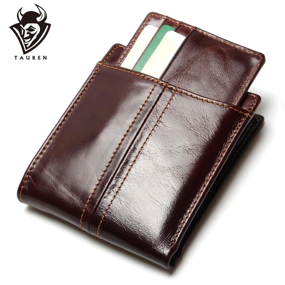 Ny Reise RFID-lommebok Ekte Lær-menns lommebøker med avtagbar kredittkort Holder Purses Carteira Masculina RFID-beskyttelse