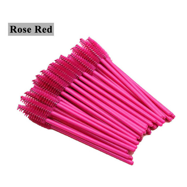 GLAMLASH premium 50Pcs disposable eyelash extension cleaning brush Micro Mascara wand lash eyebrow brush Applicator Spoolers 5