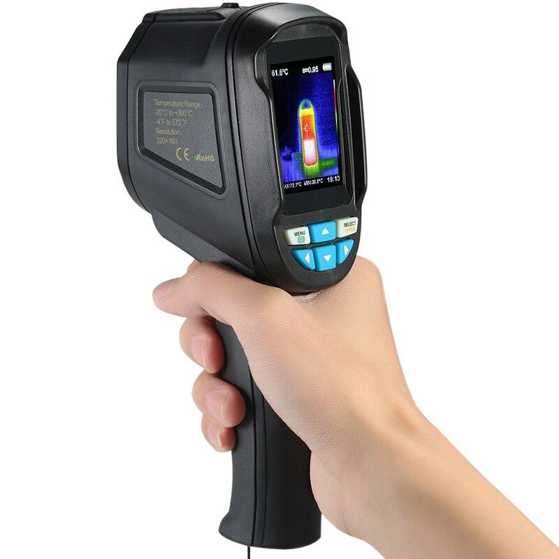 HT-04 160x220 ручной инфракрасный Imager термальность камера термограф камера цифровой температура тестер Buit-in 4G памяти