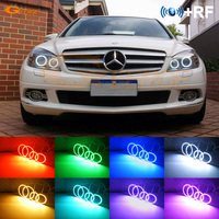 For MERCEDES BENZ C Class W204 C204 S204 C300 C350 2007 2011 Xenon headlight RF Bluetooth APP Multi Color RGB LED Angel Eyes kit