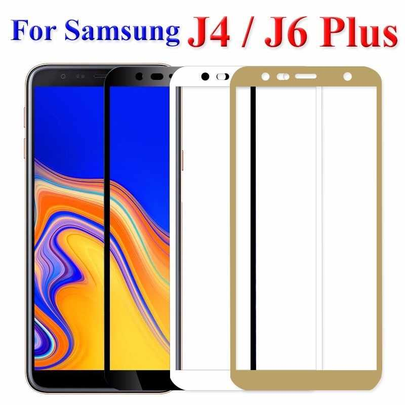 2Pcs Protective Glass On The For Samsung Galaxy j6 j4 plus Screen Protector Tempered Glass Samsun Glaxy j6plus j4plus 2018 Cover