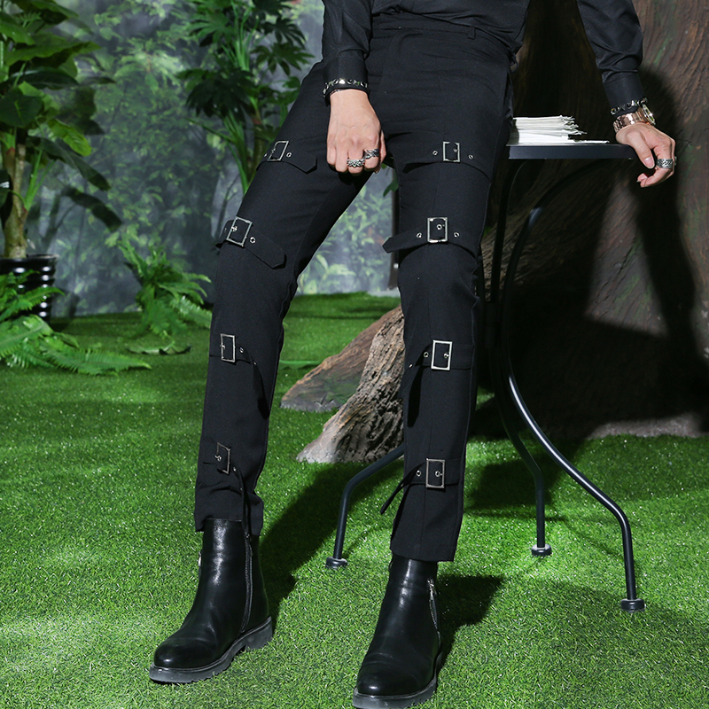 27-44 2020 new clothes of the GD fashion stylist metal decorative personality casual pants plus size singer costumes