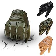 Outdoor Motorcycle Sports Gloves Non-slip Cycling Bicycle Sport Full Finger Motocross Black Camouflage Army Green