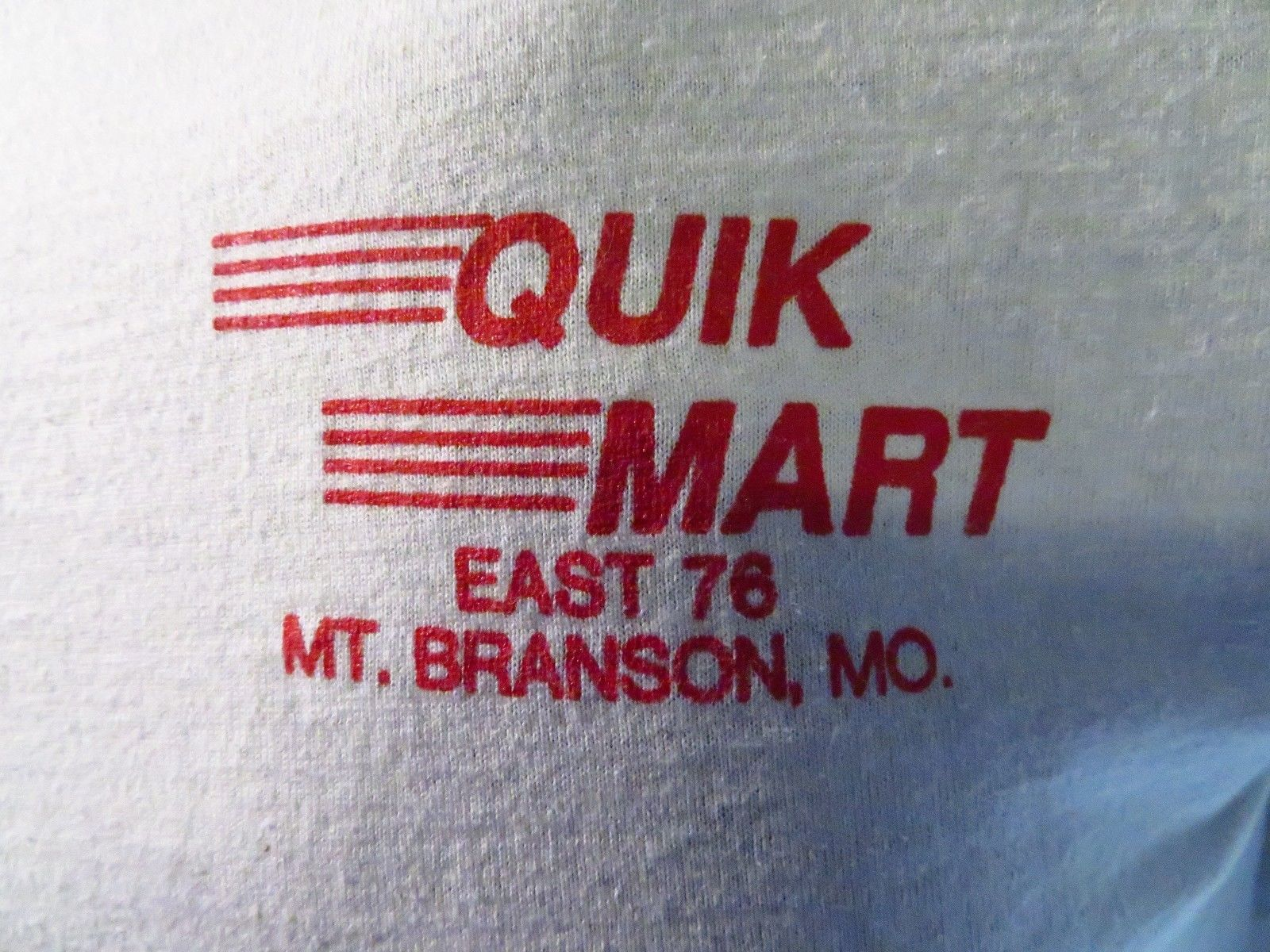 Branson Missouri Mens T-shirt Size M Crease-Resistance 100% Quality Quik Mart East 76 Mt Back To Search Resultsmen's Clothing