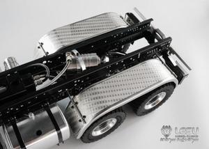 LESU części metalowy tylny błotnik B dla 1/14 RC DIY Tmy 3348 Model samochodu ciężarowego TH10228