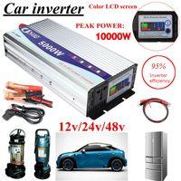 Инвертор 12 В/24 В/48 В 220 В 5000 Вт 10000 Вт пиковая Модифицированная синусоида мощность напряжение трансформатор инвертор конвертер + ЖК дисплей