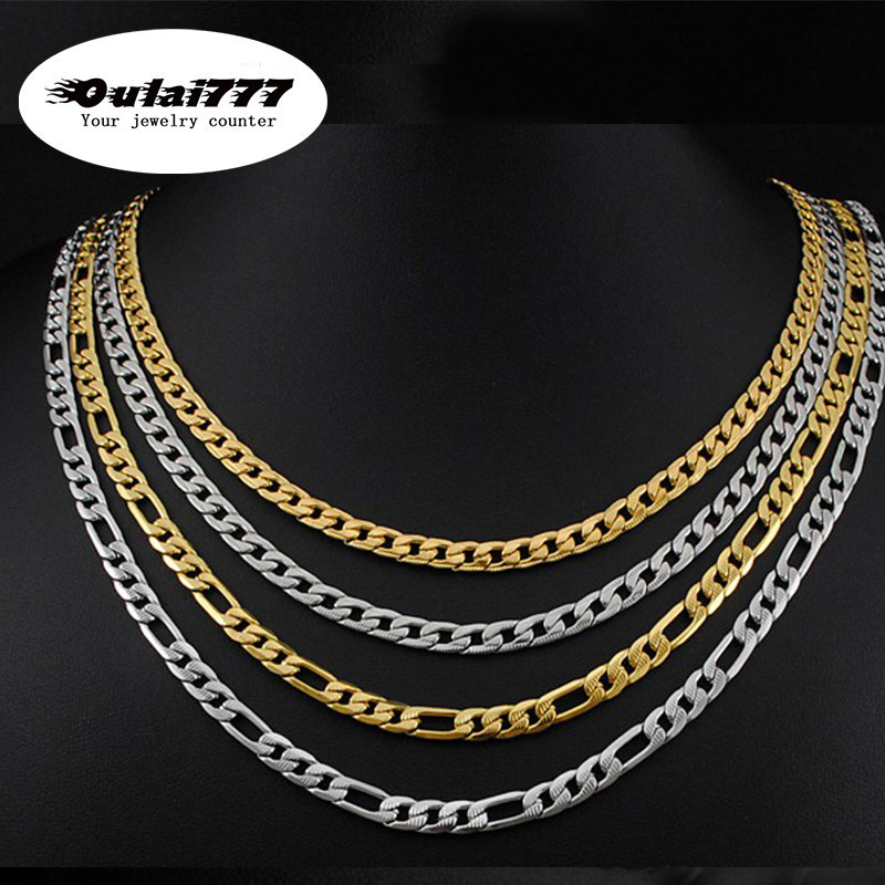 New 2019 figaro stainless steel men necklace gifts personalized gold chain long men 39 s necklaces male chocker hip hop jewelry in Chain Necklaces from Jewelry amp Accessories