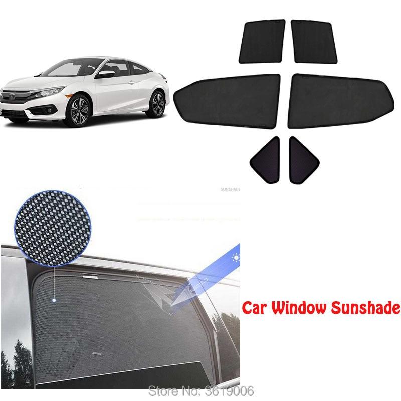 6 шт. высокого класса на заказ для Honda Civic 2015 18 Тип карты магнитный автомобильный занавес Солнцезащитный козырек автомобиля оконный оттенок а