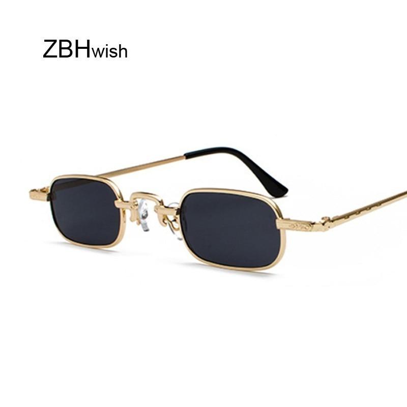 Vintage Small Square Steampunk Sunglasses Women Men Brand Designer Metal Frame Sun Glasses Female Retro Gothic High Quality