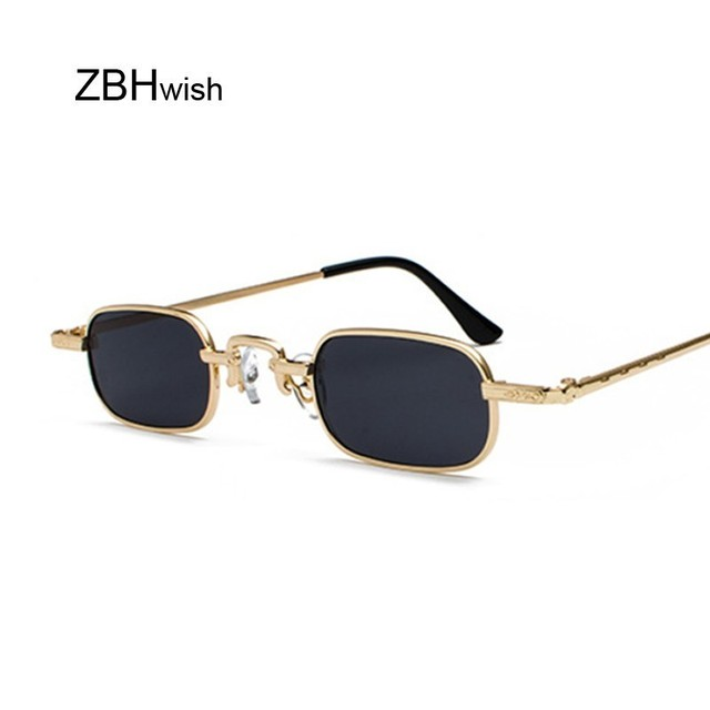 9d948dac0856 Vintage Small Square Steampunk Sunglasses Women Men Brand Designer Metal Frame  Sun Glasses Female Retro Gothic High Quality