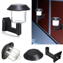 Автоматический светильник с датчиком 2 V/60mA, солнечная панель, экологичный домашний светодиодный светильник, простой в использовании, пластиковая Солнечная настенная деревянная лампа#1025