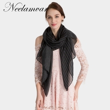 Neelamvar New Fashion Autumn Winter Stripe Scarf Women Warm cotton Scarf Shawls Ladies Basic Scarves big size long shawl Echarpe 2018 new autumn and winter popular fashion wing tote genuine leather trapeze women handbags casual big volume shopping bag