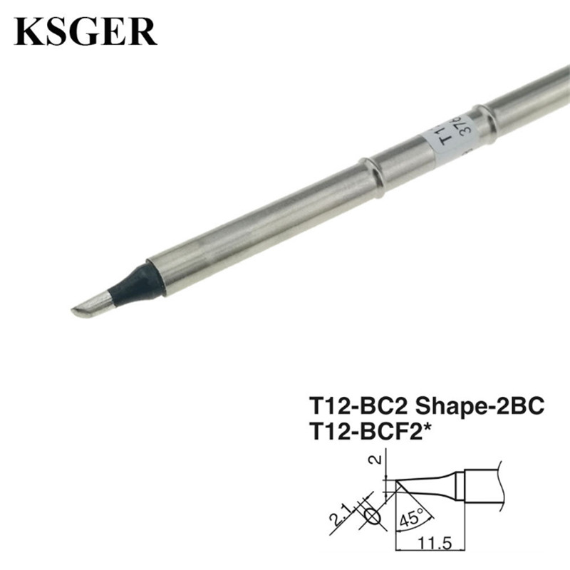 KSGER T12-ILS /K /KU /JL02/BL/D16/ D24/BC2 Electronic Soldering Iron Tips 70W High-grade Welding Tools T12 Soldering Tip