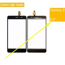 10Pcs/lot For Wiko Tommy 2 Tommy2 Touch Screen Panel Sensor Digitizer Front Outer Glass Touchscreen Tommy 2 Touch Panel Black new 6 2 4 wire resistive touchscreen usb controller kit for hsd062idw1 tm062rdh01 touch digitizer panel glass free shipping