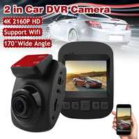 4K Ultra HD GPS Car Dash Cam 2160P 60fps ADAS DVR With 1080P Sensor Rear Camera Night Vision Dual Lens Auto Dashcam