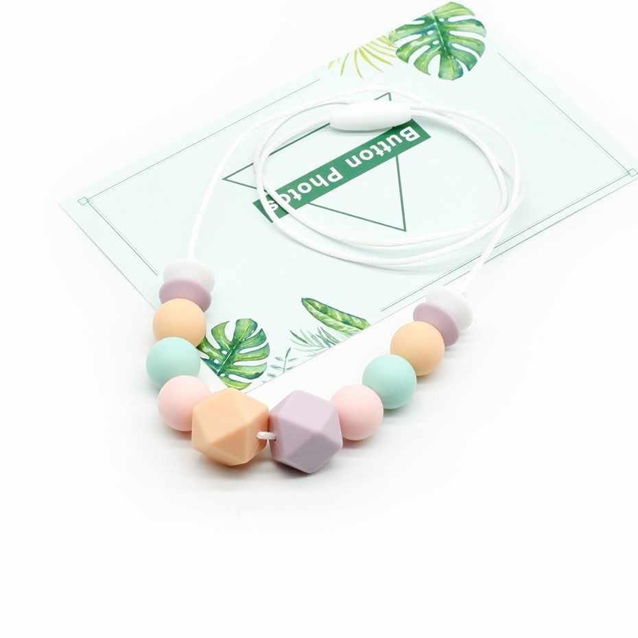 Детские/Грудное вскармливание Для женщин ожерелье-прорезыватель реального Еда Класс Силиконовые бусы для ожерелья для жевательные кормящих ребенка Mordedor