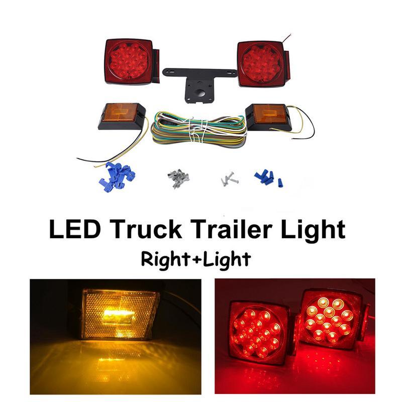 12 V feux arrière Set remorque camion caravane LED feu arrière feu arrière clignotant frein Stop lampe 6 LED plaque d'immatriculation lumière bateau