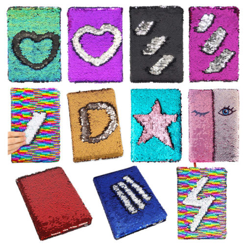 Reversible Sequin Journal Diary Magic A6 Note book Writing Book for Kid Girl Children Sequins Notebook Hot Notebooks(China)