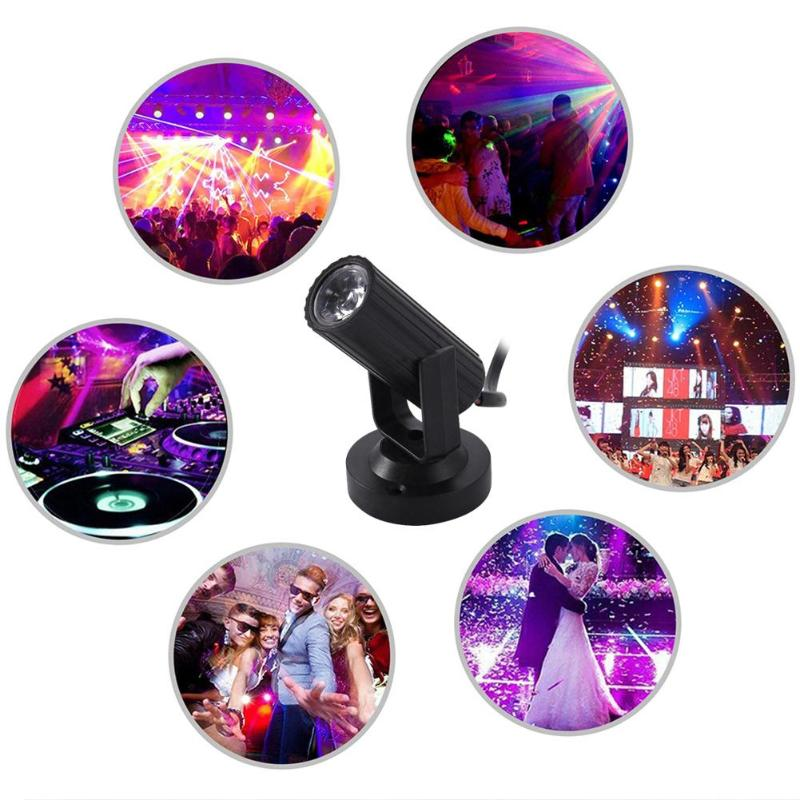 1W Disco Light LED Beam Light Spotlight Moving Head Laser Projector AC 85-265V Effect Stage Lighting Lamp For KTV DJ Bar Disco