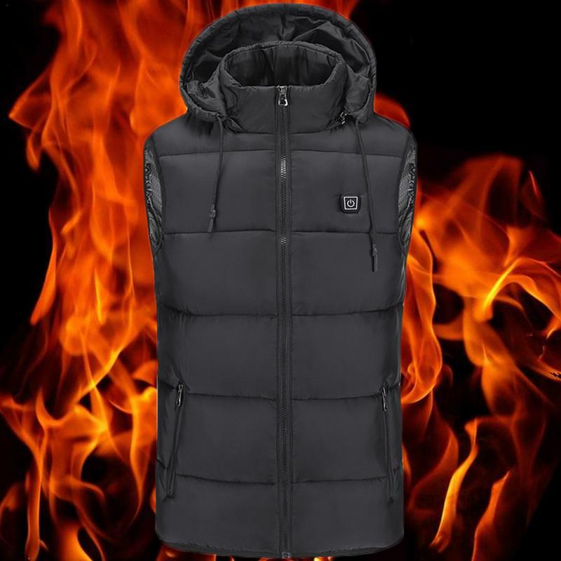 Electric USB Heated Heating Heat Hoodie Jacket Winter Body Warmer Coat Or Vest