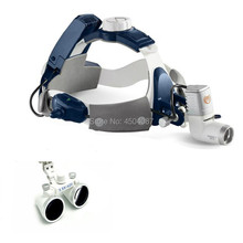 3.5X420mm Medical Loupes Binocular Magnifier Medical Dental Surgical Loupes+ 5W LED Medical Headlight Headlamp 2 Battery