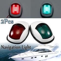 1 par 12 V luz LED blanco/navegación negro lámparas de luz para el yate marina del barco estribor ABS bote de plástico viajar ligero