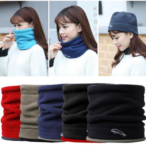 New Fashion Women Men Fleece Neck Warmer Ring Scarves Neckerchief Thermal Snood Hat Ski Wear Scarf Beanie Balaclava