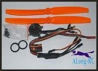 FREE SHIPPING BRUSHLESS MOTOR EMAX GT2205KV1660 +12A ESC FOR the F3P RC plane MINI 3D PLANE multicopter