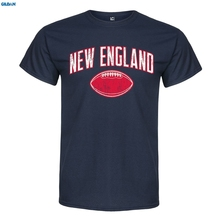 GILDAN New England Footballer - Adult Mens 100% Cotton Short Sleeve Print Men Summer T Shirt Sleeves T-Shirt Selling Navy Style