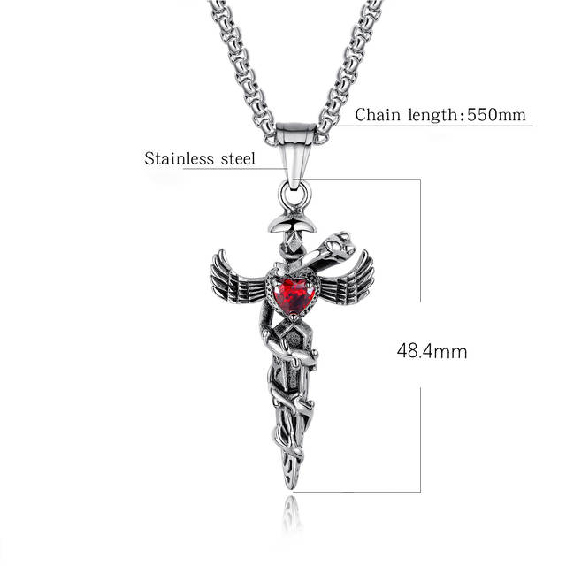 5b28b48e92fff US $10.61 42% OFF|Men's Long Cross Pendant Necklace 925 Sterling Silver Jet  Jade Pendant Vintage Cross Line Chain Amethyst Christmas Deal Necklace-in  ...