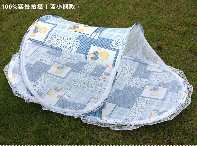 20162016 Baby Bed Crib Mosquito Netting Cushion Portable Infant Folding Babies Mosquito Net Mattress Cotton padded Pillow