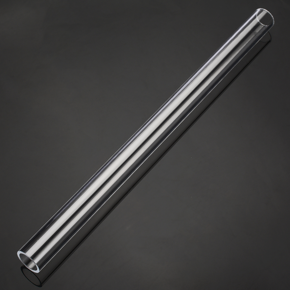 1x Transparent Acrylic Plexiglass Lucite Tube 300mm Length 20mm OD 16mm ID