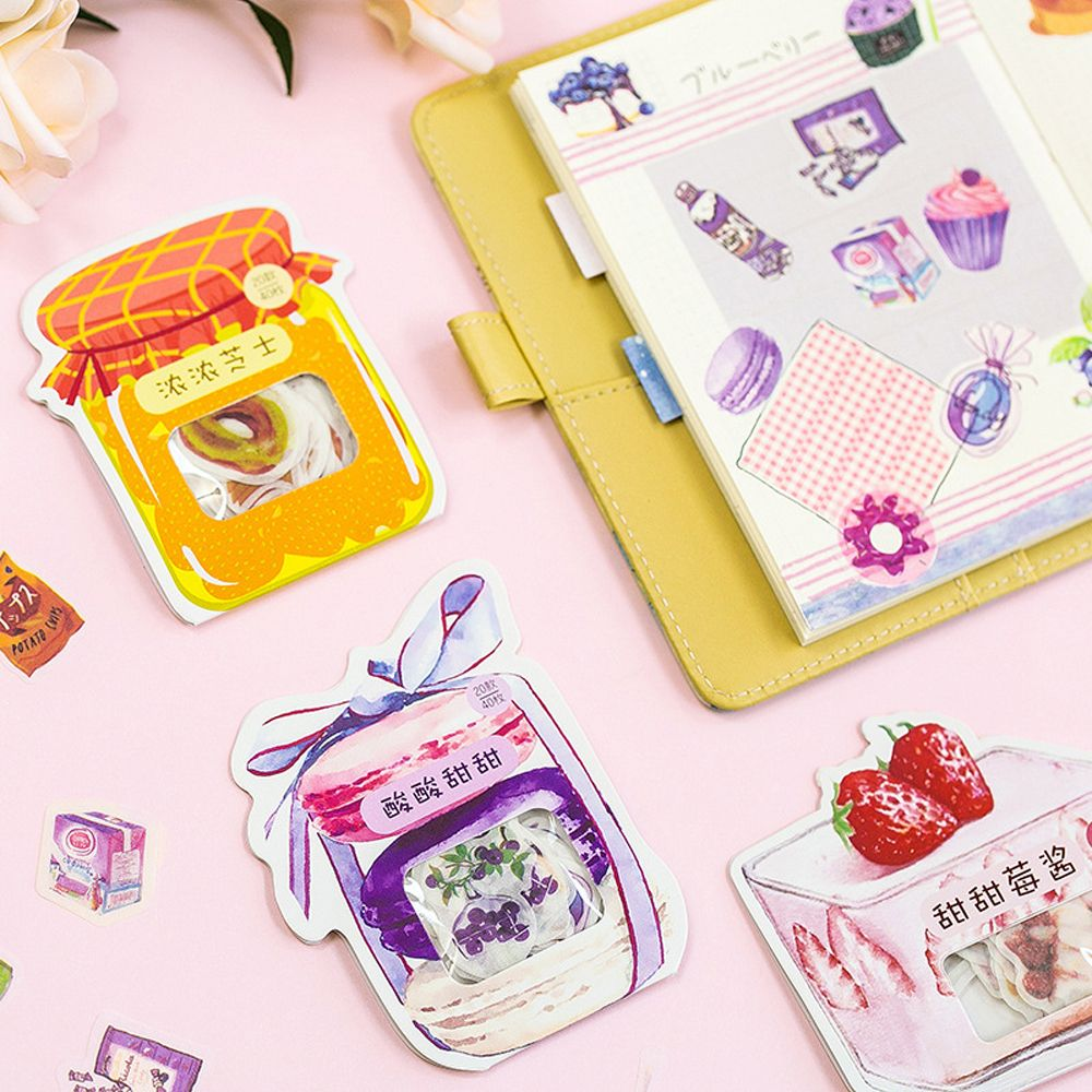 Details About 40pcs Food Shape Stickers Diy Scrapbook Packaging Seal Labels Kawaii Stationery