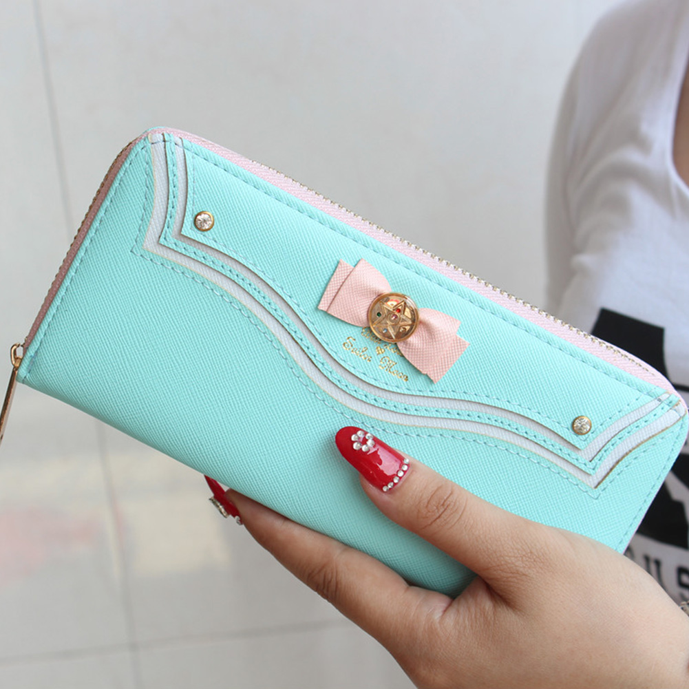 Samantha Vega Sailor Moon Ladies Long Zipper Female Bag Women Brand Leather Kawaii Wallet Purse Portefeuille Femme