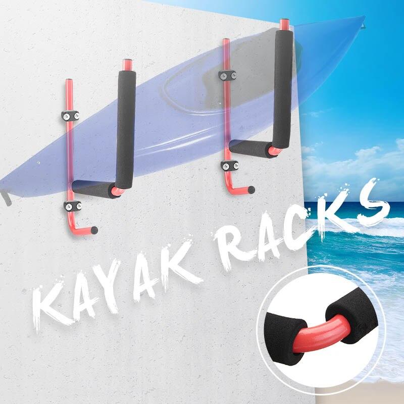 2 pièces Kayak étagère de rangement Transporteur Canoe Paddle Planche De Surf Titulaire Canoë Support Mural Cintre