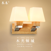 Modern Japanese Style Led Lamp Oak Wooden Wall Lamp Lights Sconce For Bedroom Home Lighting,wall Sconce Solid Wood Wall Light