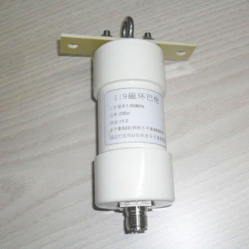 1:9 발룬 200 W 단파 발룬 햄 롱 와이어 HF 안테나 RTL-SDR 1-56 MHz 50 옴 ~ 450 옴 NOX-150 자기