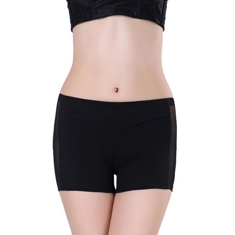 Ladies Panties Gauze Sexy Body-Shaping Khaki Black Hip-Up Bottom-Shaping Polyester Ultra-thin  Bottoms  Shorts For Women Newly